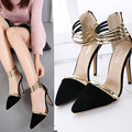 summer blue shoes Pointed Toe Women's Pumps 2017 Sexy pumps High Heels Party Shoes for women Platform Pumps spring Shoes X273