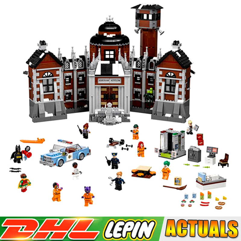 LP 07055 1628pcs Batman Movie THe Arkham`s Lunatic Asylum Set Building Blocks Bricks children Toys Compatible legoings 70912 dhl 1628pcs lepin 07055 genuine series batman movie arkham asylum building blocks bricks toys with 70912 gift