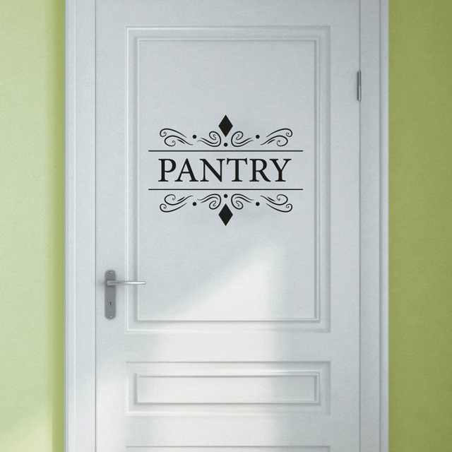 23 8cm17 2cm fashion pantry door decals stickers glass door decal vinyl wall sticker