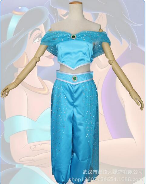 women adult princess jasmine costume Aladdin's Princess cosplay halloween party carnival costume hot sell Belly dance dress