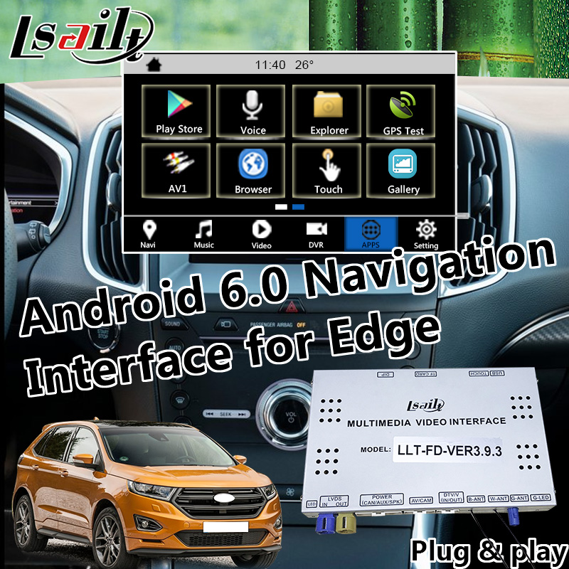 Plug & Play Android Navigation for Ford SYNC 3 Edge Fiesta etc with youtube  waze Carplay Google Play