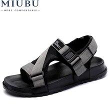 MIUBU Men fashion sandals new fashion hook-loop sandals men casual shoes comfortable light flats zapatos size 38-46