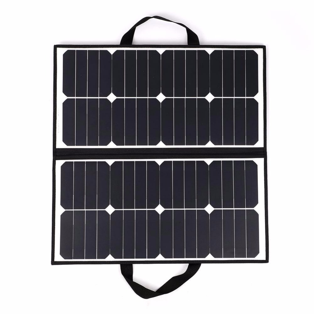 50W 18V Portable Camping Waterproof Folding Solar Panel Charger Battery For Outdoor Camping Tool