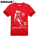 2016 Verano Cavalierse Kyrie Irving bodybuilding culturismo jersey jersey de la universidad de manga Corta Camiseta de encargo t shirt