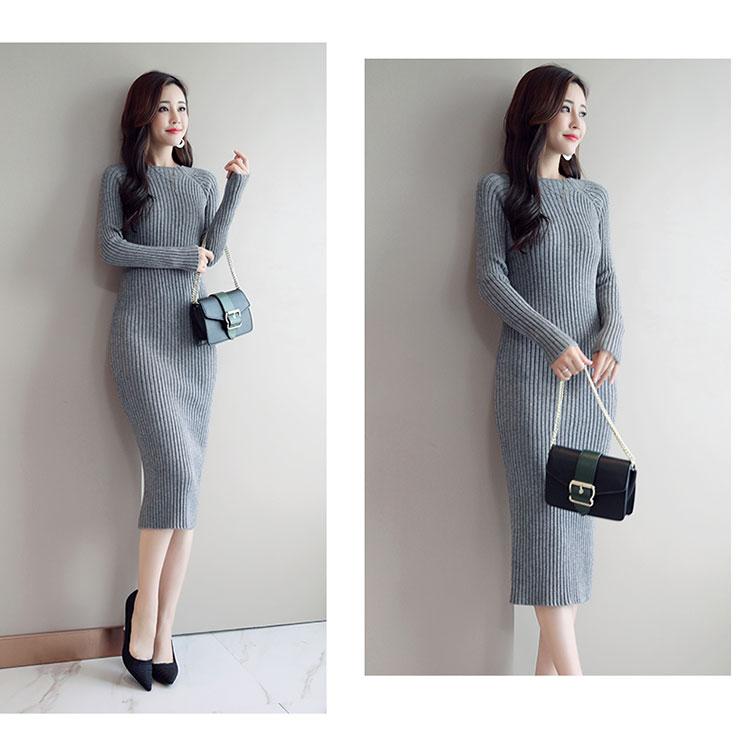 Женское платье-свитер, корейская мода, женские вязаные платья, зимний женский кардиган, облегающее платье, элегантные женские свитера, платья, Vestido платье женское вязаное платье платье женское трикотажное платье
