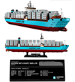 Nueva lepin 22002 Maersk buque de carga regalo bloques de construcción de Juguete barco de Contenedores 1518 unids BUILERDS CREADOR 10241 Montado técnica boy