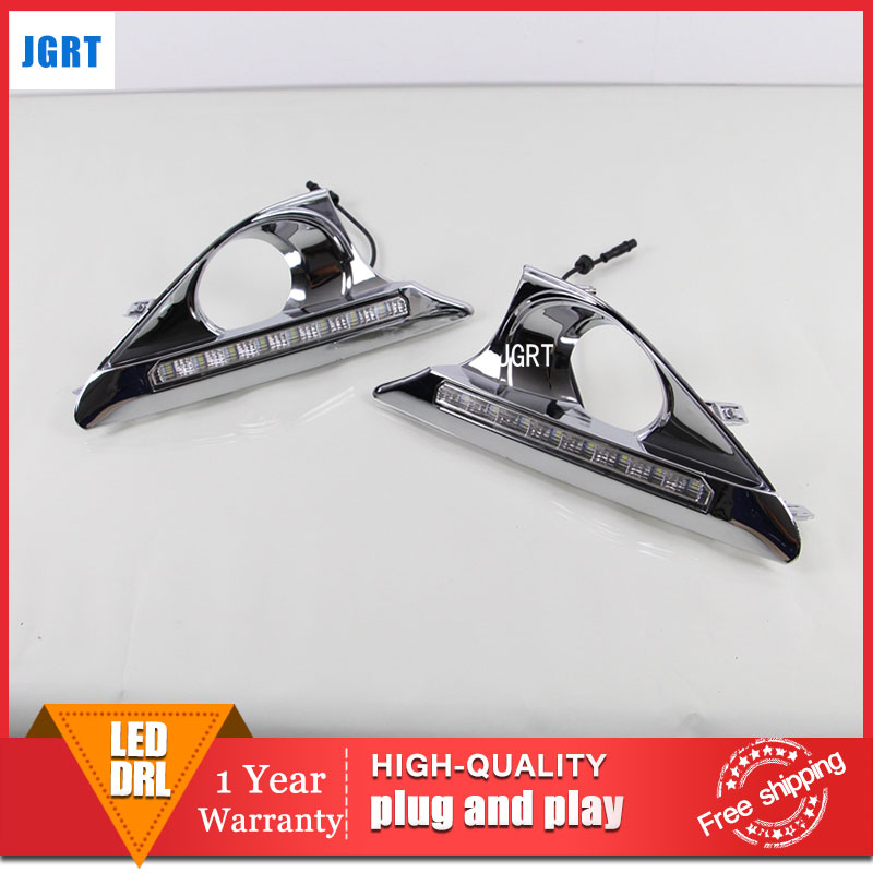 car styling 2012-2014 For TOYOTA Camry DRL For Camry led fog lamps daytime running light High brightness guide LED DRL