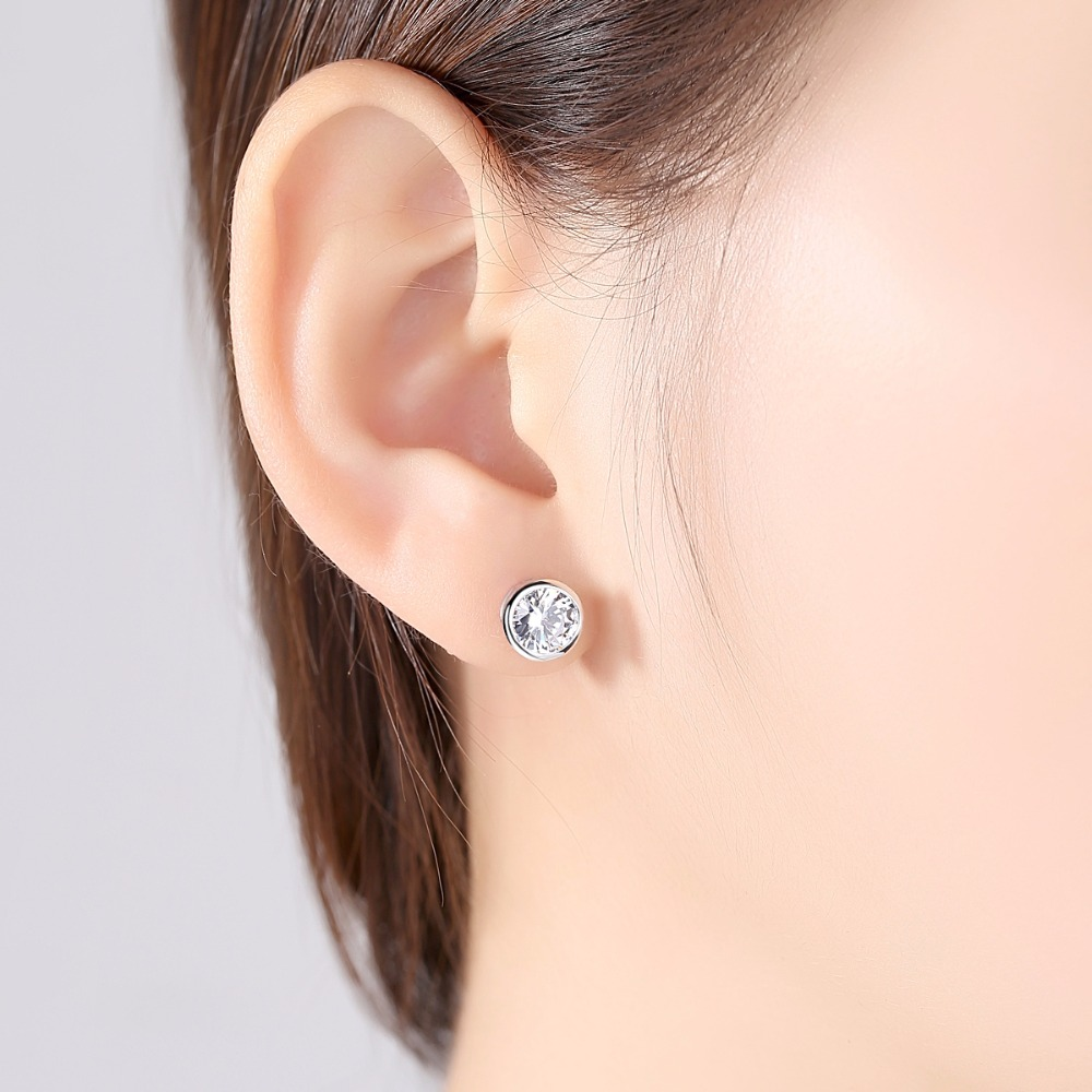 diamonds white carat of gold earrings with in tw stud cluster