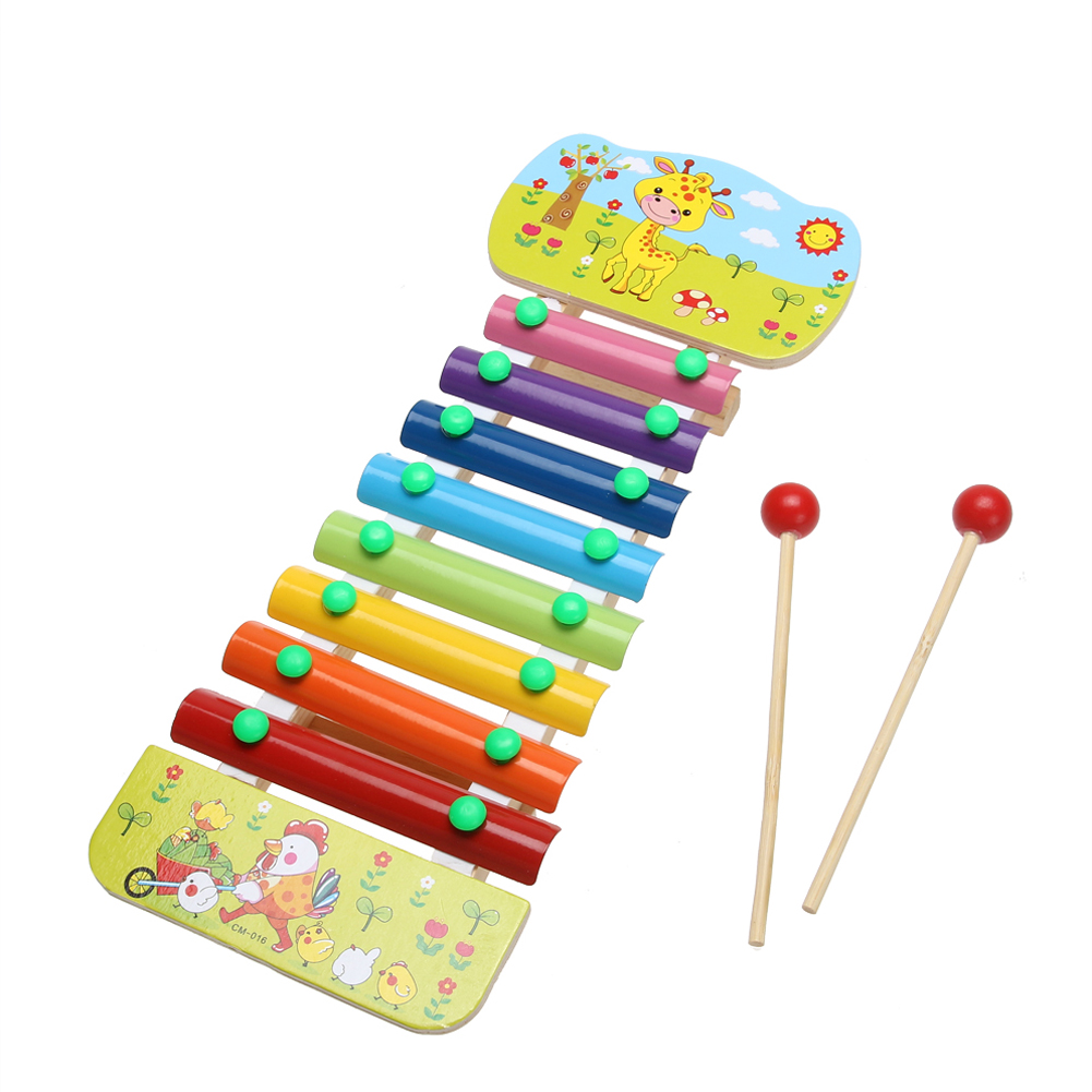 8 Notes Wooden Education Toys Xylophone Children Music Toys Glockenspiel Wisdom Juguetes font b Musical b