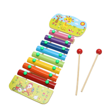 8 Notes Wooden Education Toys Xylophone Children Music Toys Glockenspiel Wisdom Juguetes Musical Instrument Random Color