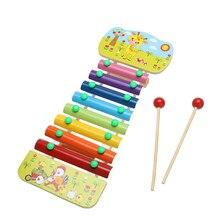 8 Notes Wooden Education Toys Xylophone Children Music Toys Glockenspiel Wisdom Juguetes Musical Instrument Random Color