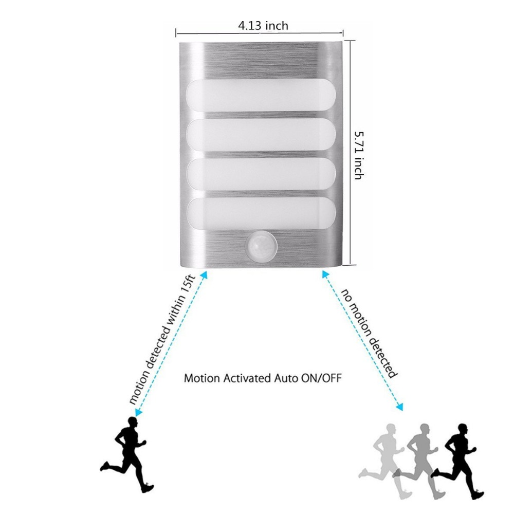 Image 5 - USB Rechargeable Sensor Night Light Wireless PIR Motion Sensor Light Wall Light Lamp Auto On/Off For Hallway Pathway Staircasenight lightrechargeable night lightmotion sensor led -