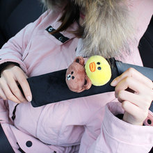 Сиденье для стайлинга автомобиля поясная крышка Защитите плечо площадку Чехлы для ремней безопасности Медведь Плюшевые Авто Интерьер Декор мультфильм ToySmart Fortwo Forfour