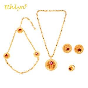 Женский комплект украшений ethlyn, ожерелье/серьги/Кольцо/головной убор с кристаллами золотого цвета, для свадьбы, в стиле «Холодное сердце»