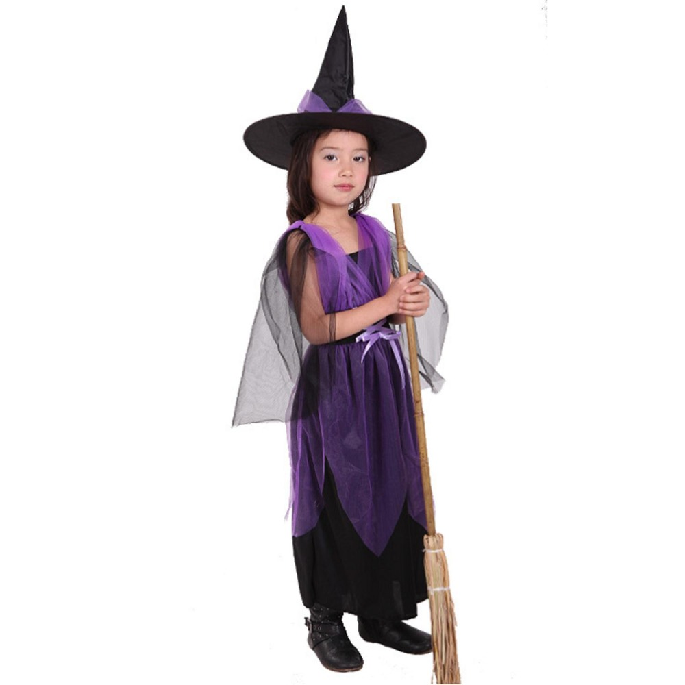 VASHEJIANG Children Witch Halloween Costumes For Kids Pretty Purple Fly Witch Costume Band Carnival Party Stage Show Cosplay-in Girls Costumes from Novelty ...  sc 1 st  AliExpress.com & VASHEJIANG Children Witch Halloween Costumes For Kids Pretty Purple ...