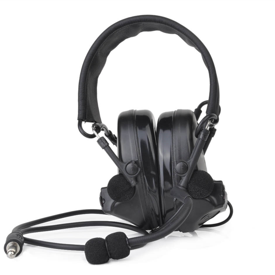 Hunting Headset Earmuff Tactical headphone Aviation Headsets Airsoft Shooting Reduction Noise Canceling Leather Protection Z041