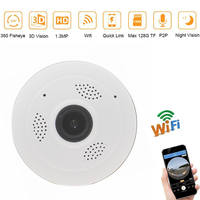 Panoramic Full View Mini IP Camera 3D 1 3M 960P Wireless Wifi Security Cctv Camera Wide