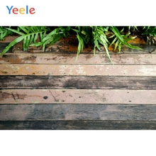 Yeele Leaves Dark Wooden Board Texture Planks Product Show Baby Photography Backgrounds Photographic Backdrops For Photo Studio