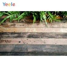 Yeele Leaves Dark Wooden Board Texture Planks Product Show Baby Photography Backgrounds Photographic Backdrops For Photo Studio yeele rose flower simple wooden board texture planks goods show photography backgrounds photographic backdrops for photo studio