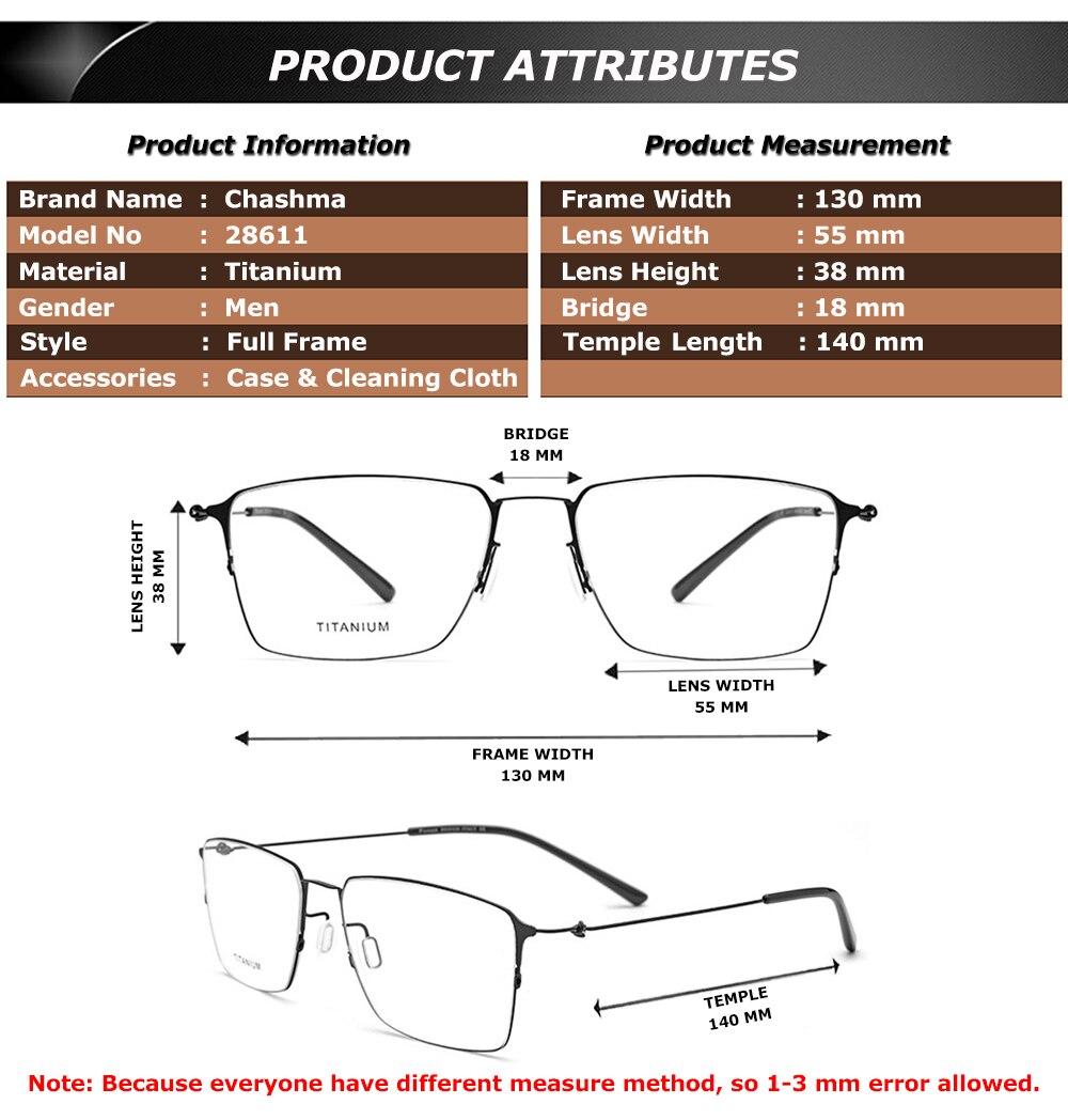 25f992ae85b6a Chashma Marca Homens Grandes óculos de Armação Grandes Óculos Círculo Peso  Leve Qualidade Masculino Quadros Prescrição