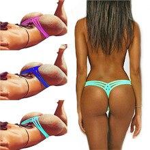 3d9a4e4c6361f 6 Colors Brazilian Bikini Cheeky Bottom Hot Swimsuit Briefs Swimwear Women  Briefs Shorts G-string