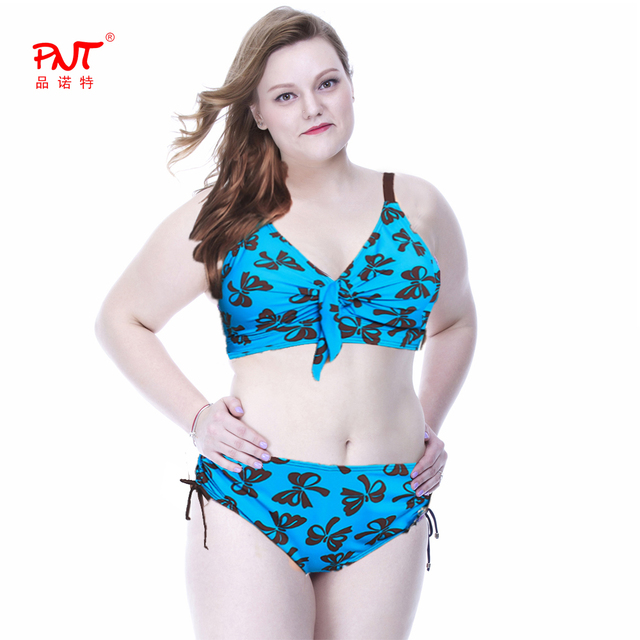 High Waist Bikini Plus Size Women's Swimsuits