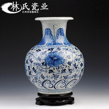 Jingdezhen Ceramic Chinese Flower Arrangement Hand-painted Blue and White Lotus Mushroom Porcelain Bottle Jewelry