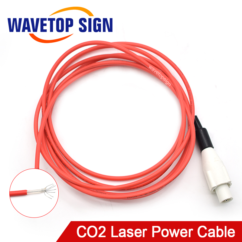 CO2 Laser Power Box Cable CO2 Laser Tube Connector Male Top Male Connector For Laser Power Box 2pcs/Package