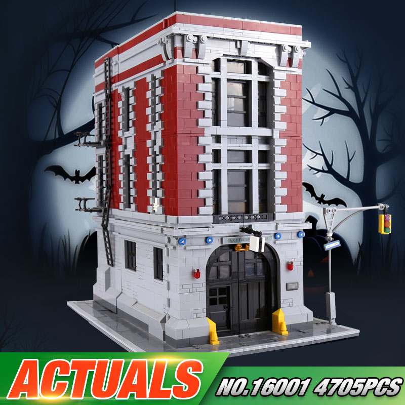 In stock LEPIN 16001 Actuals 4705Pcs Ghostbusters Firehouse Headquarters 75827 Model Building Kits Model set Toys For Children 4695pcs lepin 16001 city series firehouse headquarters house model building blocks compatible 75827 architecture toy to children