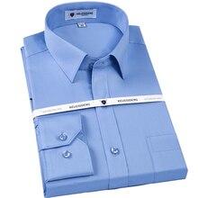 096cc42c863 Los hombres no es de hierro Slim sólido vestido básico camisa parche  bolsillo en el pecho izquierdo Premium 100% de algodón de m.