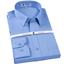 mengquan Men's Non Iron Slim Fit Solid Basic Dress Shirt 100% Cotton Long Sleeve