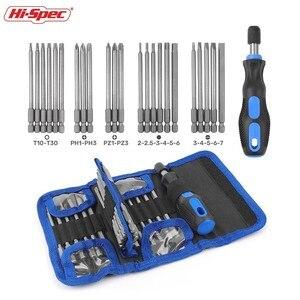 Image 2 - Hi Spec 25pc Extra Long Reach Screwdriver Bit Set Torx Screwdriver Set Kit Multitool Screw Driver Tools Set Hand Tools in Bag