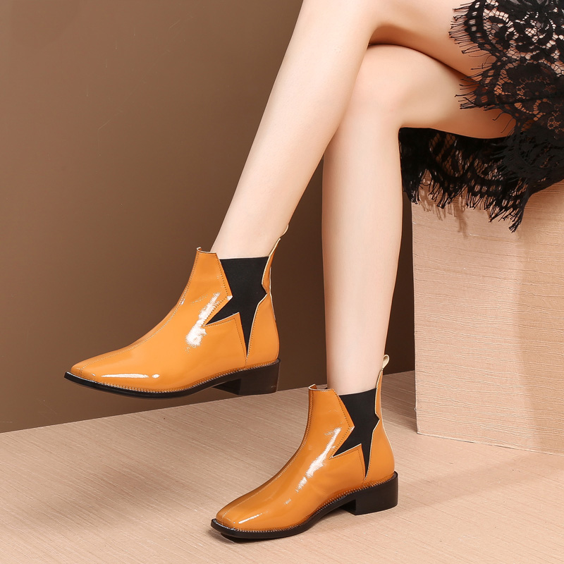 MYCOLEN New 2019 Autumn Winter Shoes Women Chelsea Boots Warm Cold Winter Fashion Womens Ankle Boots Ladies Brand Shoes