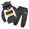 6 Colores Boys & Girls Niños Camisas y Sudaderas Ropa de Niños Conjunto de la Historieta de Batman Casual 100% Algodón Hoddies Sudaderas
