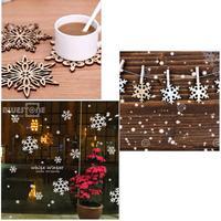 5 Different Shaps10x Swirl Snowflake Wood Embellishment Hanging Ornament Decor