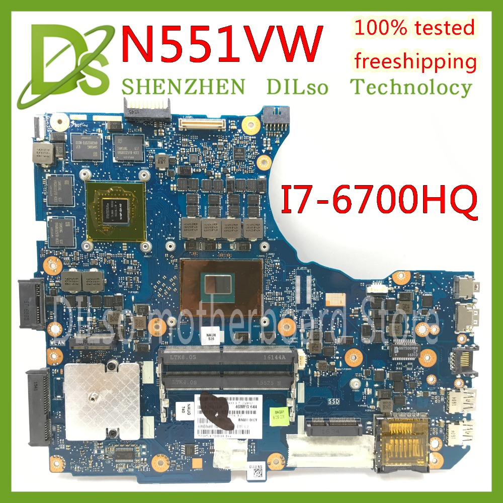 KEFU N551VW motherboard For <font><b>ASUS</b></font> <font><b>N551V</b></font> G551V FX551V G551VW FX51VW N551VW Laptop Motherboard I7-6700HQ CPU GTX960M Test work 100% image