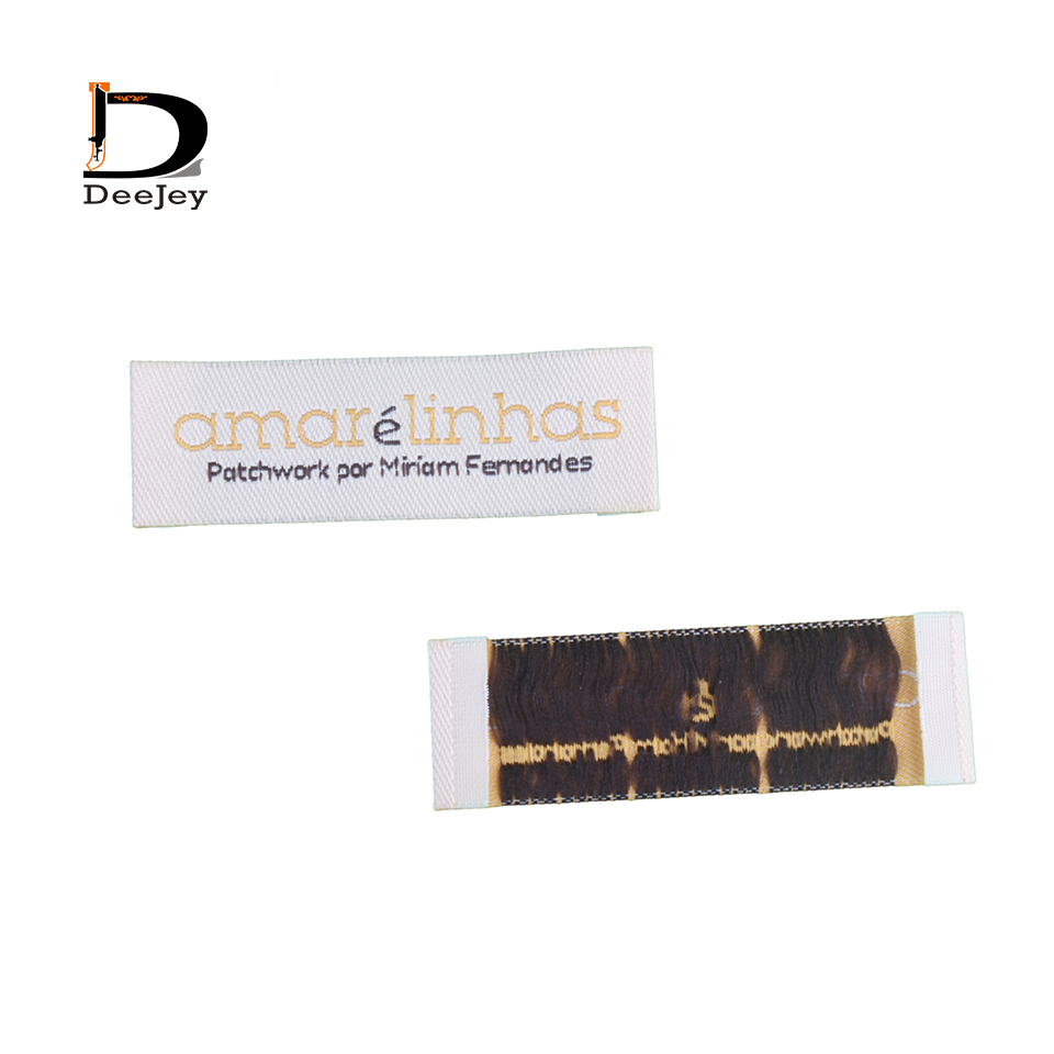 cut and folded custom fabric Clothing labels private brand labels for clothing 1000pcs lot