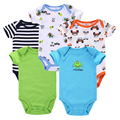 5pcs/lot Baby Romper Baby Wear Jumpsuit Short Sleeve 100% Cotton Newborn Baby Girl Boy Clothes Bebe Clothing Body Suits