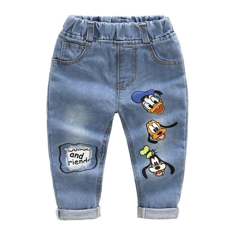 2-7 Jahre, Kinder Jeans Hosen, Baby Jungen Und Mädchen Frühling Herbst Mode Zerrissenen Jeans Kinder Marke Hosen Junge Casual Jean Hosen