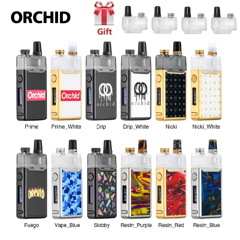Kit de Vape à dosette orchidée IQS avec batterie et système de dosette 950 mAh orchidée IQS VS GeekVape frénésie/glisser Nano/Vape perdue Orion