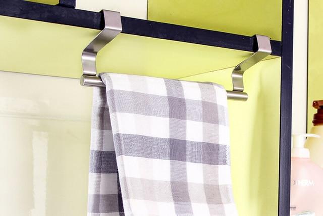 Perfect Stainless Steel Kitchen Cupboard Holder Dish Towel Hanger Door Hook
