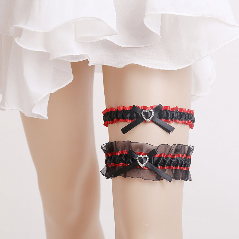 Wedding Leg Garter: Wedding Decoration Bridal Garter Heart Design Lady Women
