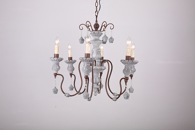 french inspired lighting. American Country Wood Chandelier Lamp Cafe French Baroque Retro-inspired Old Candle Antique Lighting Inspired R