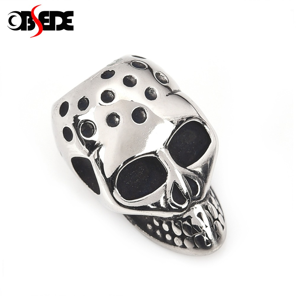 Beads 5pcs Beads Gothic Punk Skull Beads Charm Bead For Diy Bracelet Hand Made Necklace Jewelry Making Moderate Price Jewelry & Accessories