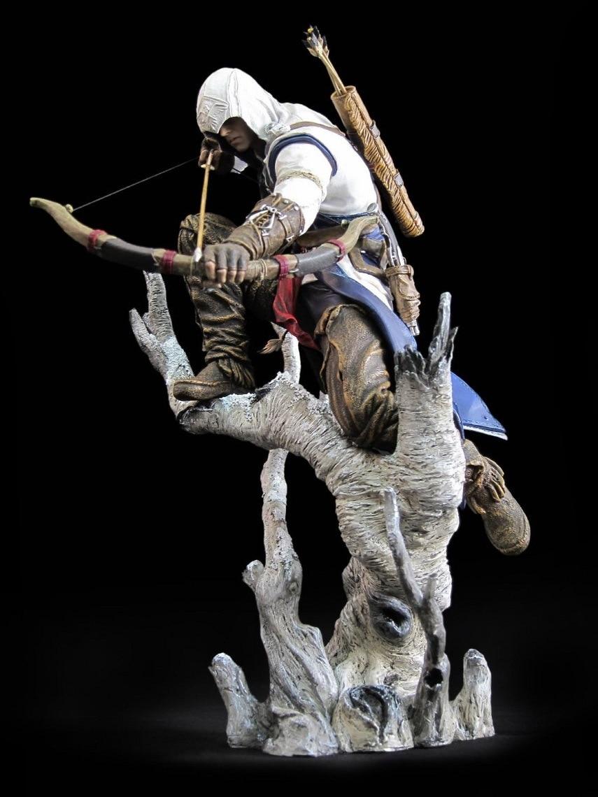 20cm Assassin's Creed III Ezio Altair Hartel Connor PVC Action Figure Model аксессуары для косплея xuan xuan cos animation studio cosplay assassin s creed iii connor