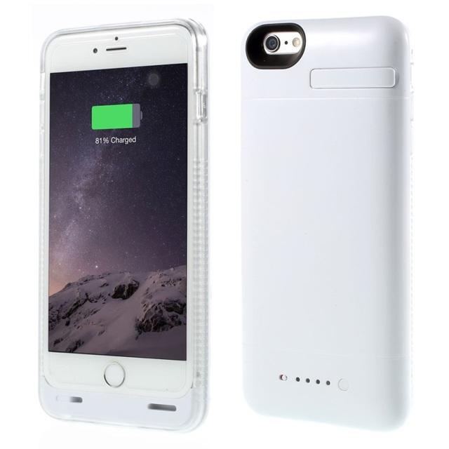Caso cubierta de la cubierta para el iphone 6 imf certificada de energía para iphone 6 s caja de batería de reserva 3200 mah externa con el tope adicional