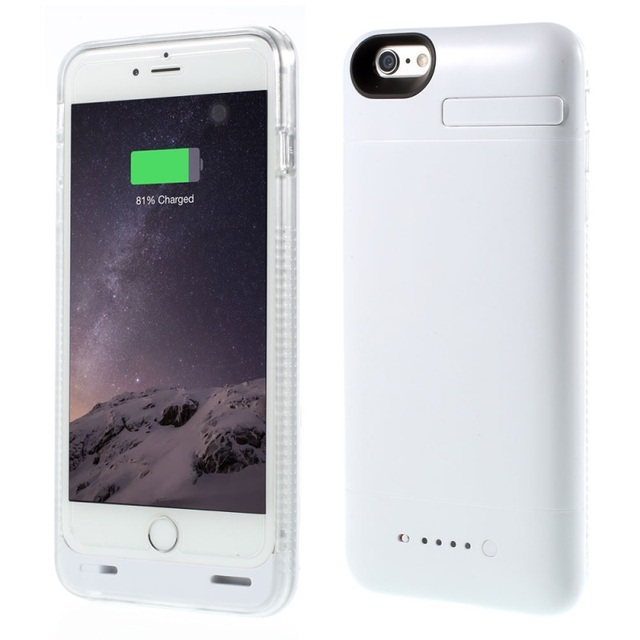 Power Cover for iPhone 6 Cover MFI Certified Case for iPhone 6s External Backup Battery Case 3200mAh with Extra Bumper
