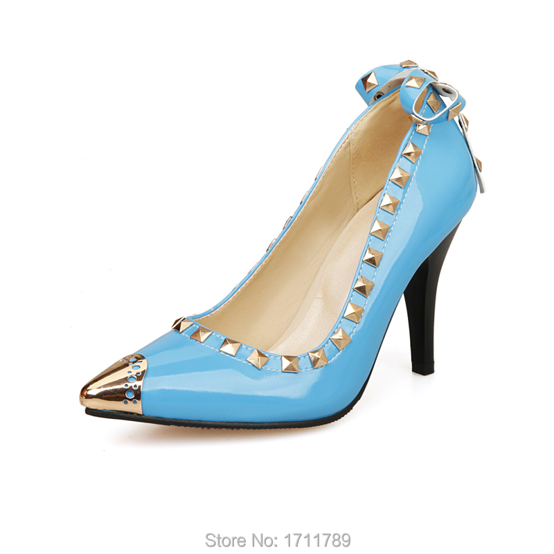 new spring autumn fashion shoes women shoes pointed toe thin high heel shoes sexy rivets women pumps small big size 31-47 0271 new 2017 spring summer women shoes pointed toe high quality brand fashion womens flats ladies plus size 41 sweet flock t179