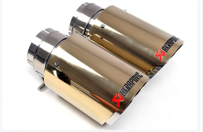 Golden Titanium Ti alloy 63 Inlet63mm Outlet90mm for ak