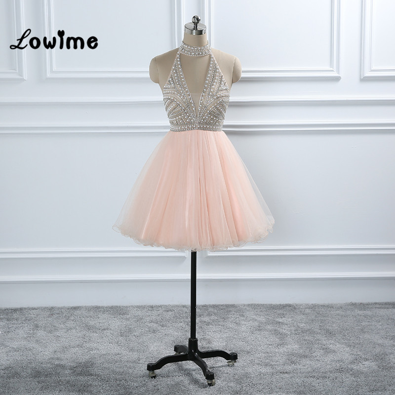Pink Robe   Cocktail     Cocktail     Dresses   Mezuniyet Elbiseleri Backless Graduation   Dresses   Homecoming   Dress   High Neck Party Gowns